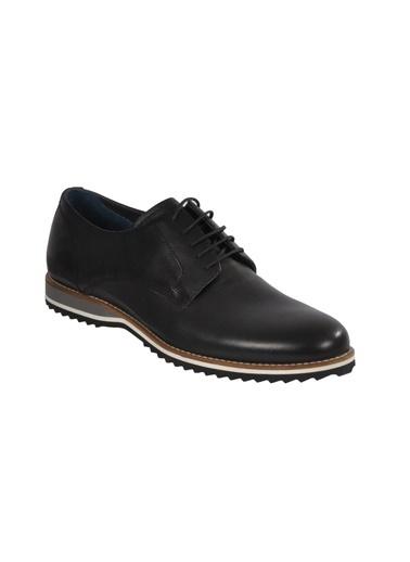 Luciano Bellini E404 Siyah Erkek Günlük Hakiki Deri Ayakkabı Siyah